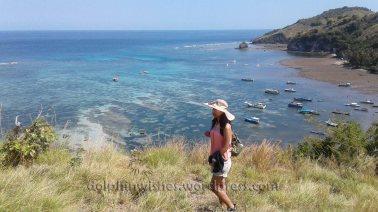 Pantai Paga dari atas bukit